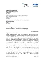 www.washnet.de | www.venro.org Seite 1 von 3 Bundesminister für ...