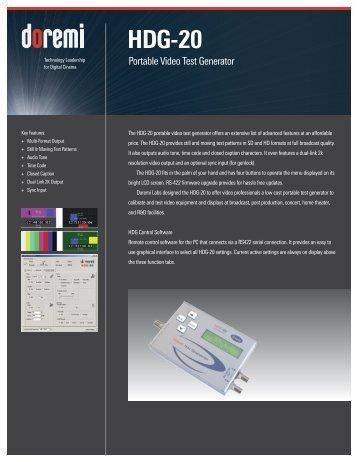 HDG-20 Brochure - Doremi Labs