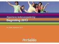 Begroting 2013 - Per Saldo