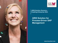 ARIS Solution for Process-Driven SAP Management - IDS Scheer AG