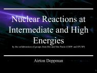 Nuclear Reactions at Intermediate and High ... - Axpfep1.if.usp.br