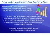 Preventative Maintenance - Ohiowater.org