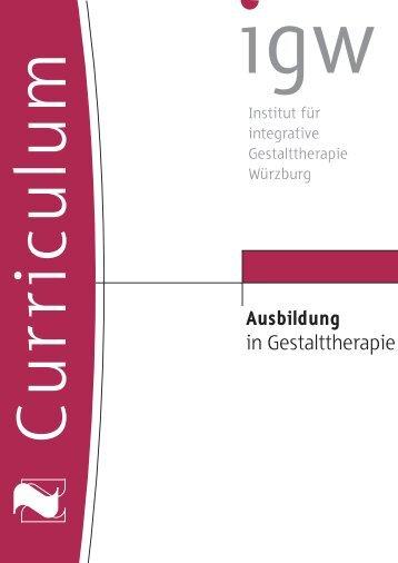 Ausbildung in Gestalttherapie - IGW Institut für integrative ...