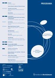 Programa II Congreso Diálogo y Acción - Fundación Bertelsmann