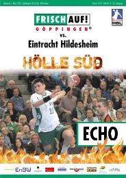 Eintracht Hildesheim - FRISCH AUF! Göppingen