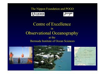 Report on NF-POGO Centre of Excellence