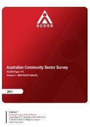 VOLUME III - NSW - Australian Council of Social Service