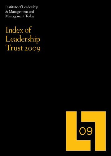 of Leadership Trust 2009 - Management & Business Studies Portal ...