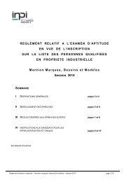 Réglement relatif à l'examen d'aptitude - Inpi