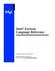 Intel® Fortran Language Reference - CMU QCD Cluster