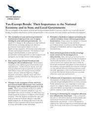 Tax-Exempt Bonds - Sherman & Howard LLC