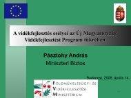 A vidékfejlesztés esélyei - Magyar Nemzeti Vidéki Hálózat