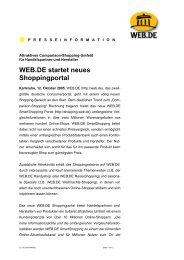 WEB.DE startet neues Shoppingportal