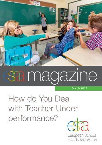 How do You Deal with Teacher Under- performance? - ESHA