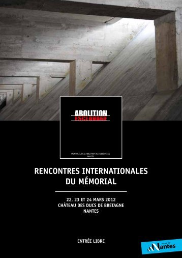 RENCONTRES INTERNATIONALES DU MéMORIAL