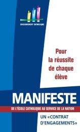 Manifeste - ECA - Enseignement catholique actualites