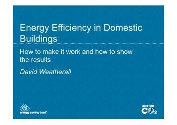 Energy Efficiency in Domestic Buildings - European Energy Network