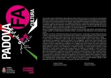 PadovaFa Cultura n. 4 (novembre-dicembre 2009) - PadovaCultura