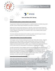 Facts and News 2010, Norway - European Energy Network