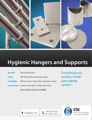 Hygienic Hangers and Supports - Csidesigns.com