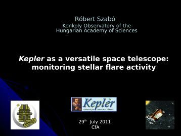 Konkoly Observatory of the Hungarian Academy of Sciences