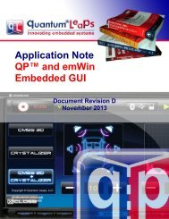 AN QP and emWin Embedded GUI - Quantum Leaps