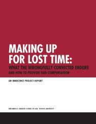 Making up for Lost Time - The Innocence Project