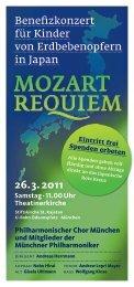 Münchner Musiker für Japan - Philharmonischer Chor München