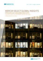 Download Mercer Select Global Insights Premium ... - iMercer.com