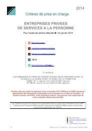 2013 entreprises privees de services a la personne - AGEFOS PME ...