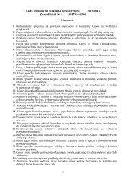 Lista tematów z języka polskiego do egzaminu ... - Zespół Szkół Nr 3