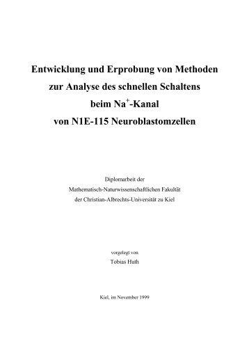 Entwicklung und Erprobung von Methoden zur Analyse des ...