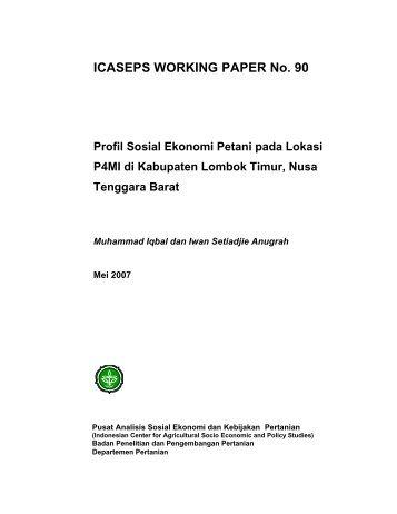Profil Sosial Ekonomi Petani pada Lokasi P4MI di Kabupaten ...