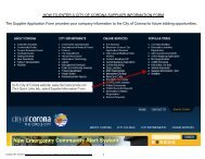 How to use the online supplier information form - City Of Corona