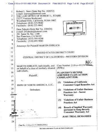 Case 2:10-cv-01151-ABC-PJW Document 31 Filed 08/27/10 Page 1 ...
