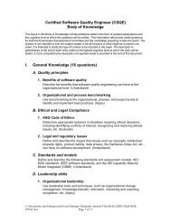 Certified Software Quality Engineer (CSQE) Body of Knowledge I ...