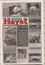 10 Ağustos 2012, Cuma - Manisa Belediyesi