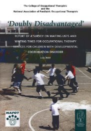 Doubly Disadvantaged - College of Occupational Therapists