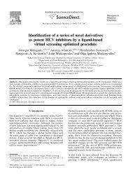 Identification of a series of novel derivatives as potent HCV ... - Afantitis