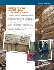 5 Critical Areas to Evaluate - Weber Logistics