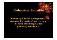 Pulmonary Embolism - NCI
