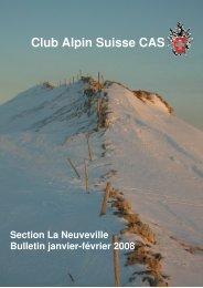 Janvier - février 2008 - CAS La Neuveville