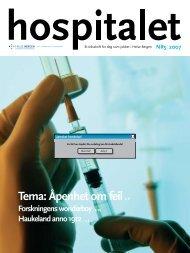 Hospitalet 2007 Nr 5.pdf - Helse Bergen
