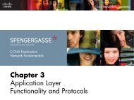 Chapter 3 Application Layer Functionality and Protocols