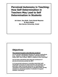 Perceived Autonomy in Teaching: How Self-Determination in ...