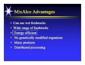 MixAlco Advantages - Revista de Ingeniería