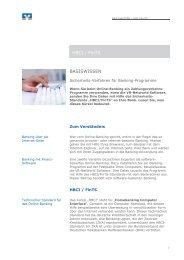 HBCI / FinTS BASISWISSEN - Volksbank Griesheim eG