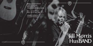 Jill Morris & Husband Flyer - Pophistory Oberfranken