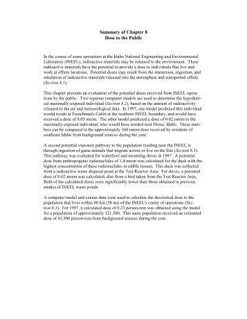 Chapter 8 - GSS ESER Program