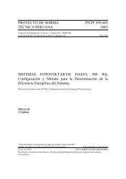 Proyecto de Norma Técnica Nacional 399.403.2003 ... - CEDECAP